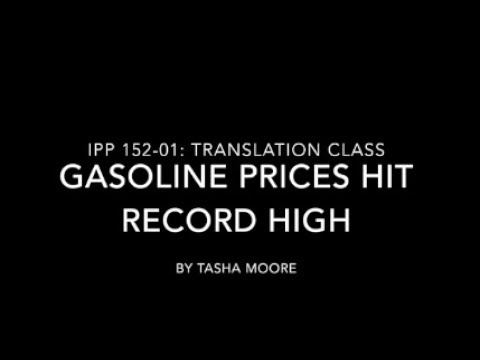 Gasoline Prices Hit Record High