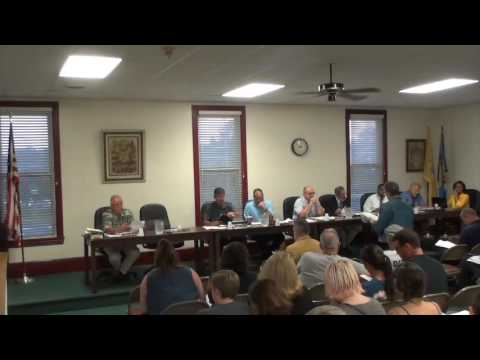8 22 2016 Tabernacle Township Meeting