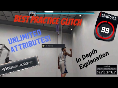 99 ATTRIBUTE UNLIMITED PRACTICE GLITCH EXPLAINED! NBA 2K17 Overpowered Gamebreaking Exploit Tutorial