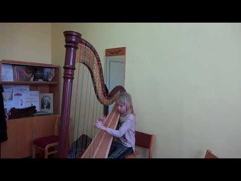 Sofija Lanskaja 3a  - Teici, Teici, Valodiņa (Ты, скажи, скажи мне песня) Latvian folk song Harp
