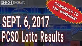 PCSO Lotto Results Today September 6, 2017 (6/55, 6/45, 4D, Swertres & EZ2)