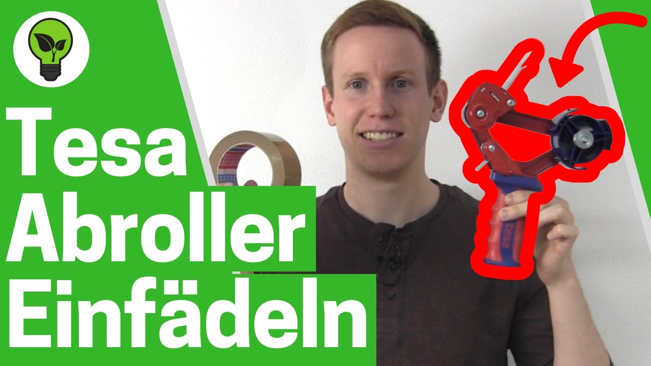 Tesa Abroller Einfadeln Ultimative Anleitung Klebebandabroller Handabroller Klebeband Einlegen Youtube