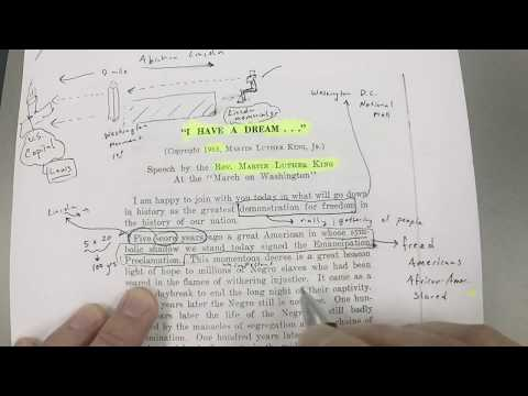 Martin Luther King: I Have A Dream: Textual Analysis (Part 1)