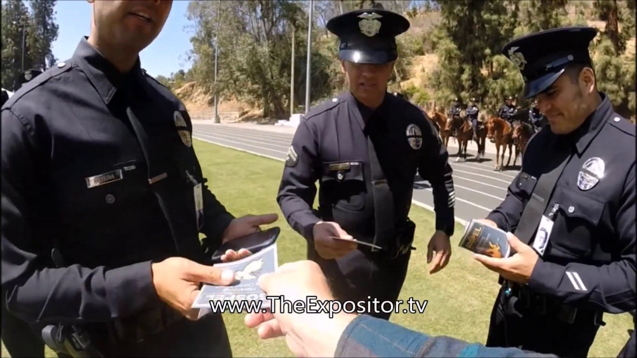 Evangelized the 2018 Annual LAPD Memorial Ceremony, Los Angeles Police Academy