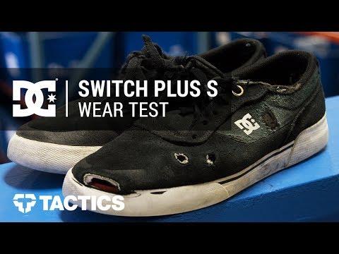 DC Switch Plus S Skate Shoes Wear Test Review - Tactics.com