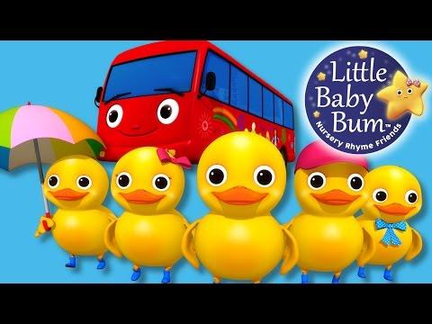 Five Little Ducks - On A Bus! | Nursery Rhymes | Original Song By LittleBabyBum!