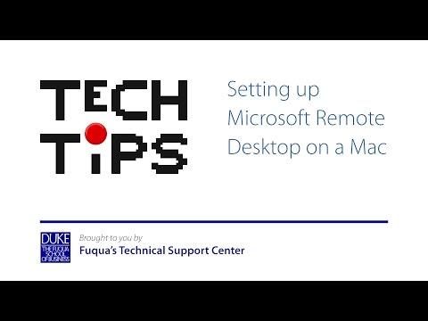 Setting up Microsoft Remote Desktop on a Mac - YouTube
