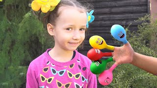 Daddy finger Family Nursery Rhyme song | 동요와 아이 노래 | 어린이 교육 | Ulya playing with balloons