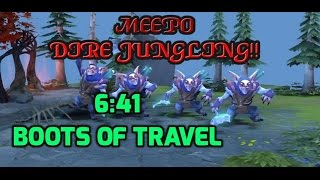 Dota 2 Howto Jungle 6.88 - Meepo 6 mins 41 secs Boots of Travel - Dire Guide