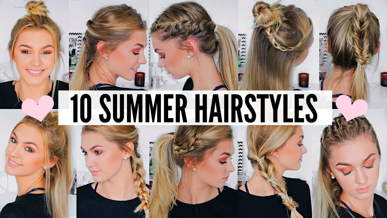 cute & easy summer hairstyles