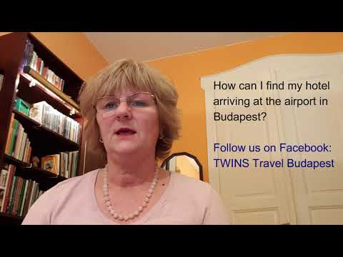How can I find my hotel arriving at the airport in Budapest?