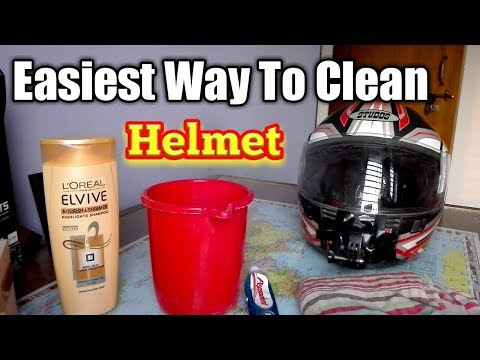 How To Clean  Helmet At Home Step By Step With Pepsodent And Shampoo In Bangladesh