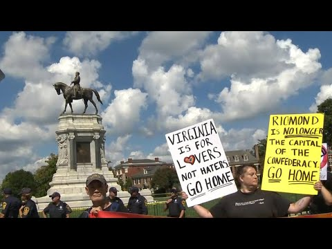 Protests over Confederate statue in Richmond, Virginia