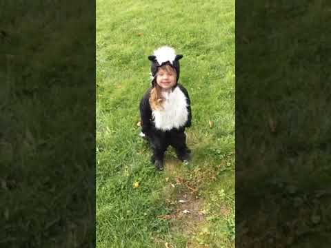 Jason King - WATCH: Little Girl Shows Off Her Homemade Skunk Costume