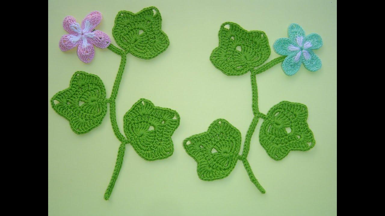como tejer hojas a crochet paso a paso f cil diy youtube