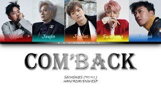 SECHSKIES (젝스키스) - COM' BACK (Color Coded Lyrics Han Rom Eng…