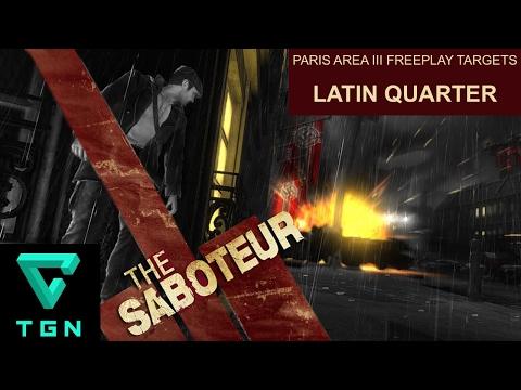 The Saboteur Paris Area III Freeplay Targets Latin Quarter