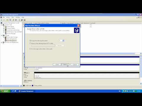 Formatting/Partitioning Hard Drives - Windows XP