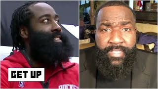 'You can't show up to work looking like me!' - Kendrick Perkins on James Harden | Get Up