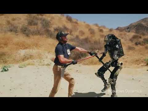 Bosstown Dynamics тестируют робота полицейского? parody part II побег робота
