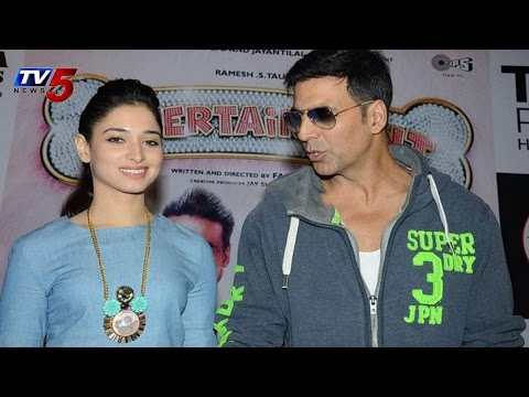 Akshay Kumar,Tamanna |Entertainment Promotional Meet in Hyderabad :TV5 News