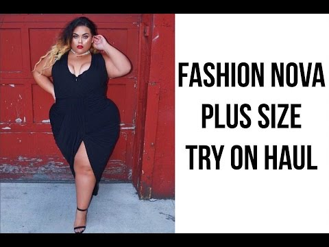 fashion nova plus size try on haul & giveaway!♡ |gabriellaglamour