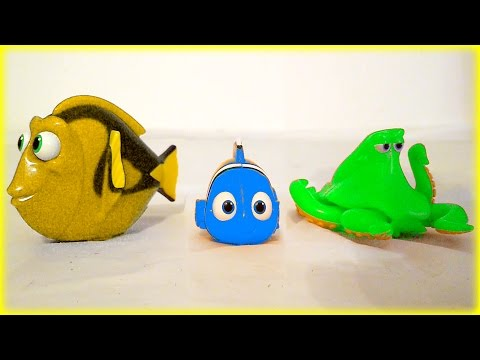 44 Minutes Disney Pixar Finding Dory Marvel Superhero Toys Surprise Eggs Kids Children Toddlers