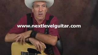 Learn Country lead guitar lesson solo chickin pickin and flat pick both on Fender Telecaster