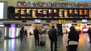 London Euston Station AM6:40