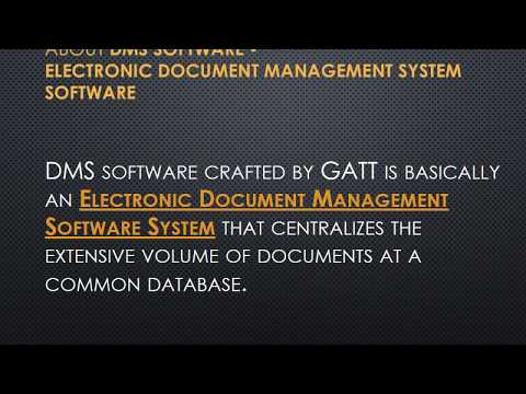 Electronic Document Management Software System | DMS Software