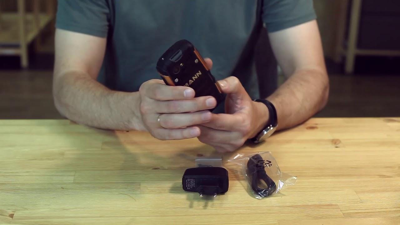 Водонепроницаемый кнопочный телефон с поддержкой 3G - Mann Zug S! Анбоксинг. Тест под водой.