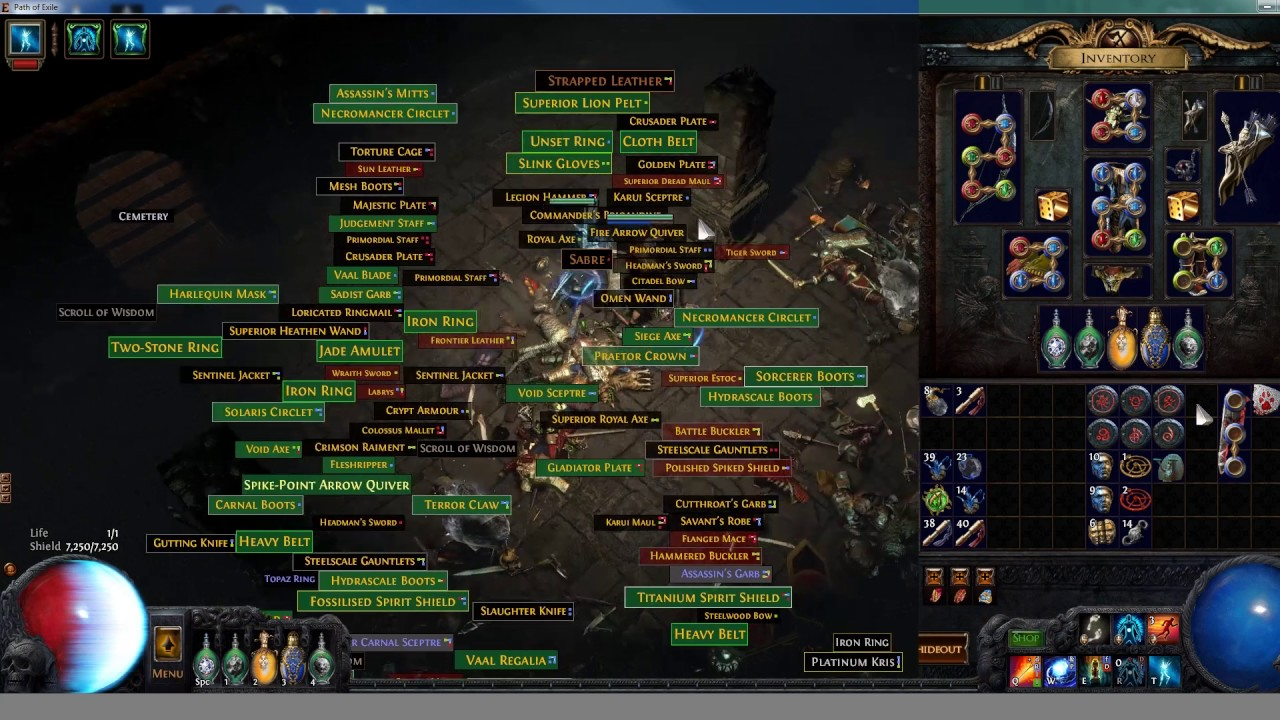 the 6 boss farming method for path of exile youtube