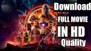 How to DOWNLOAD AVENGERS-INFINITY WAR  HD in 800MB