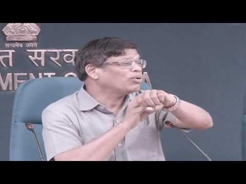 Shri Upendra Tripathy, Interim DG of International Solar Alliance briefs media