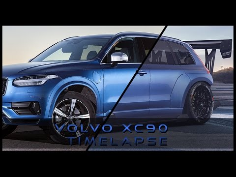 virtual tuning volvo xc90 time attack edition time lapse. Black Bedroom Furniture Sets. Home Design Ideas