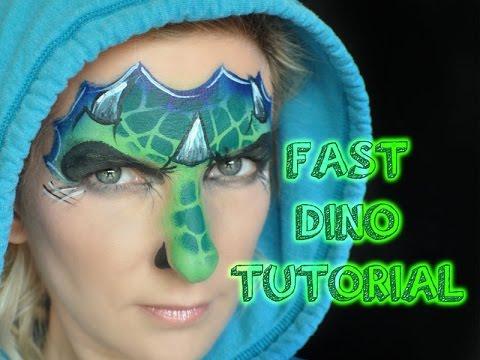 Fast Easy One Stroke Dinosaur Face