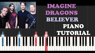 Imagine Dragons - Believer (Piano Tutorial)