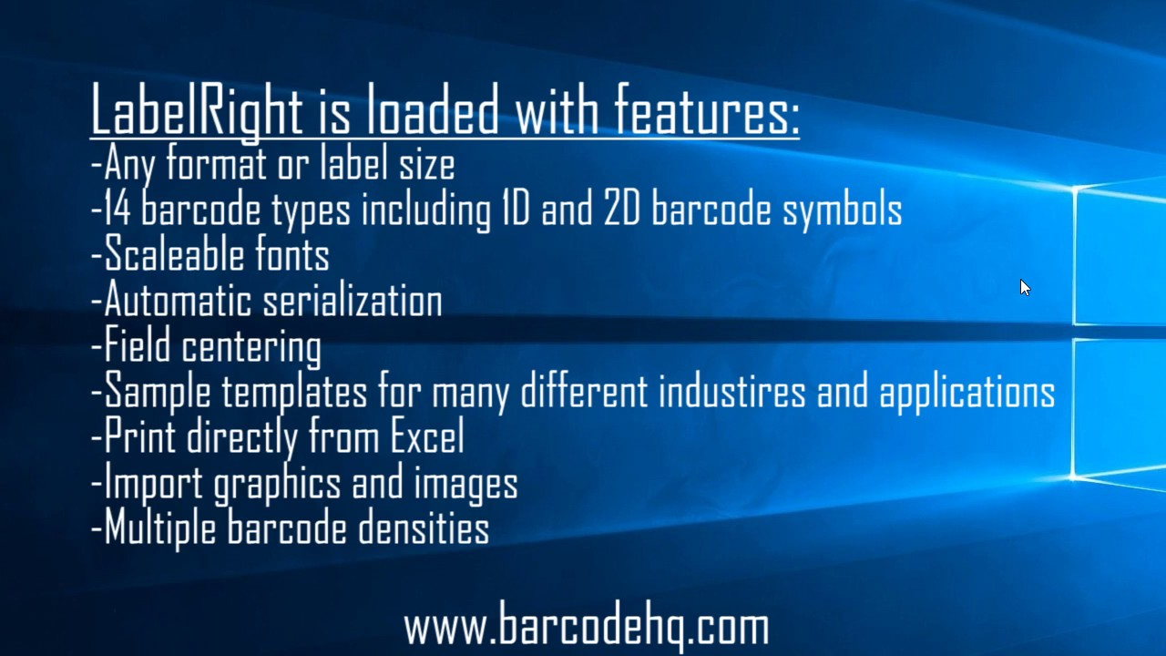 LabelRIGHT Ultimate Bar Code Label Printing & Design Software for Windows