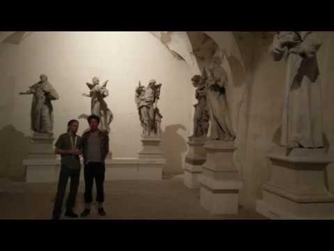 Overtones in cavern of statues in Namest bad Oslavou