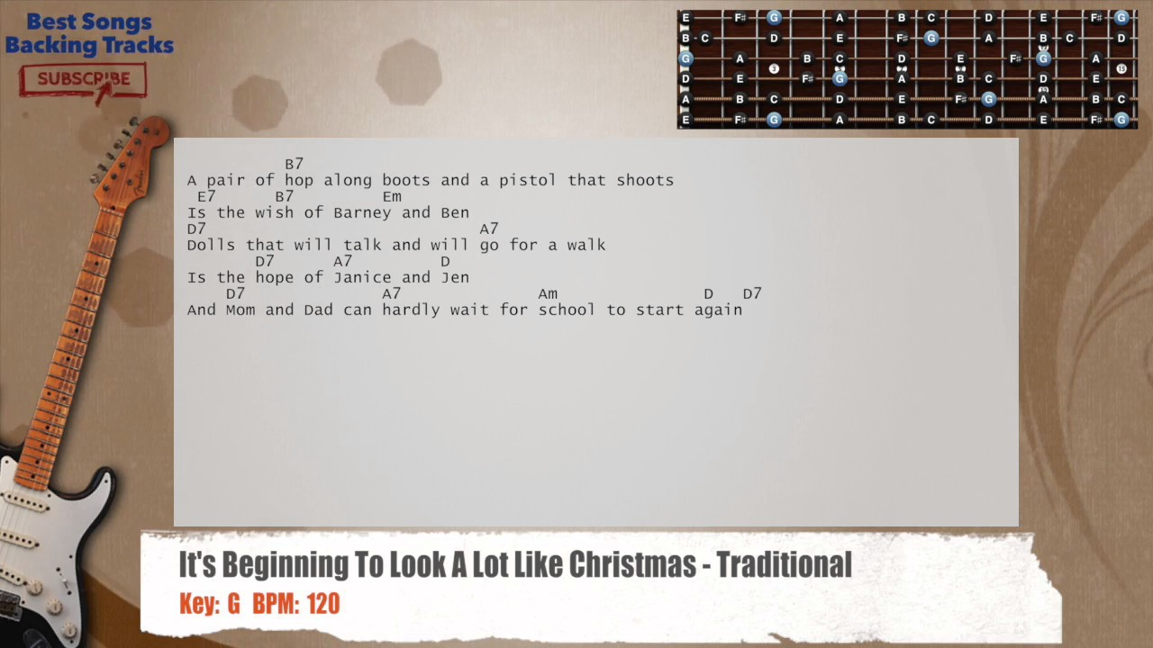 It\'s Beginning To Look A Lot Like Christmas - Traditional Guitar ...