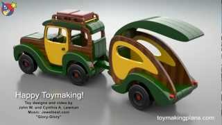 Wood Toy Plans - Woody Wagon And Trailer