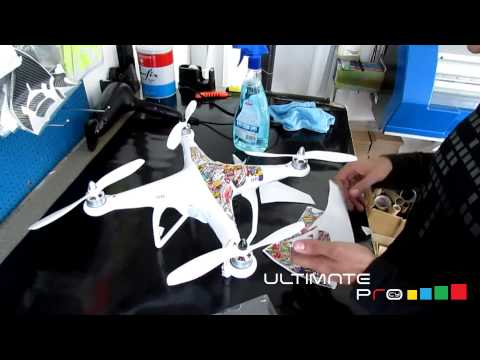 DJI Phantom 3 Decals Advance stickers kit How to apply ultimateprocy decals on phantom 3  2  1 + v3