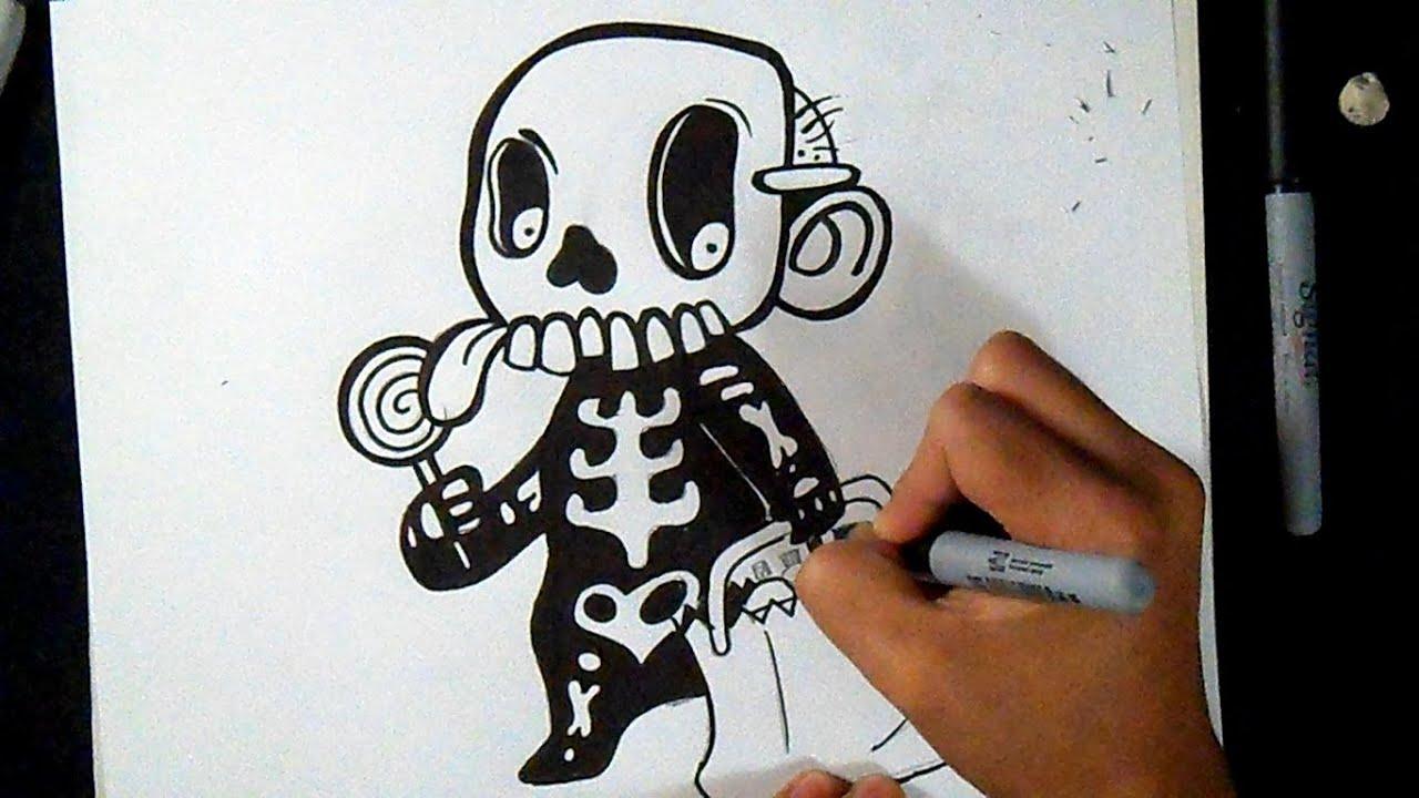 Comment Dessiner Garçon Avec Costume D'Halloween