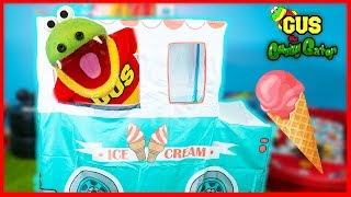 Giant Ice Cream PlayHouse Truck Pretend Play Food!!!