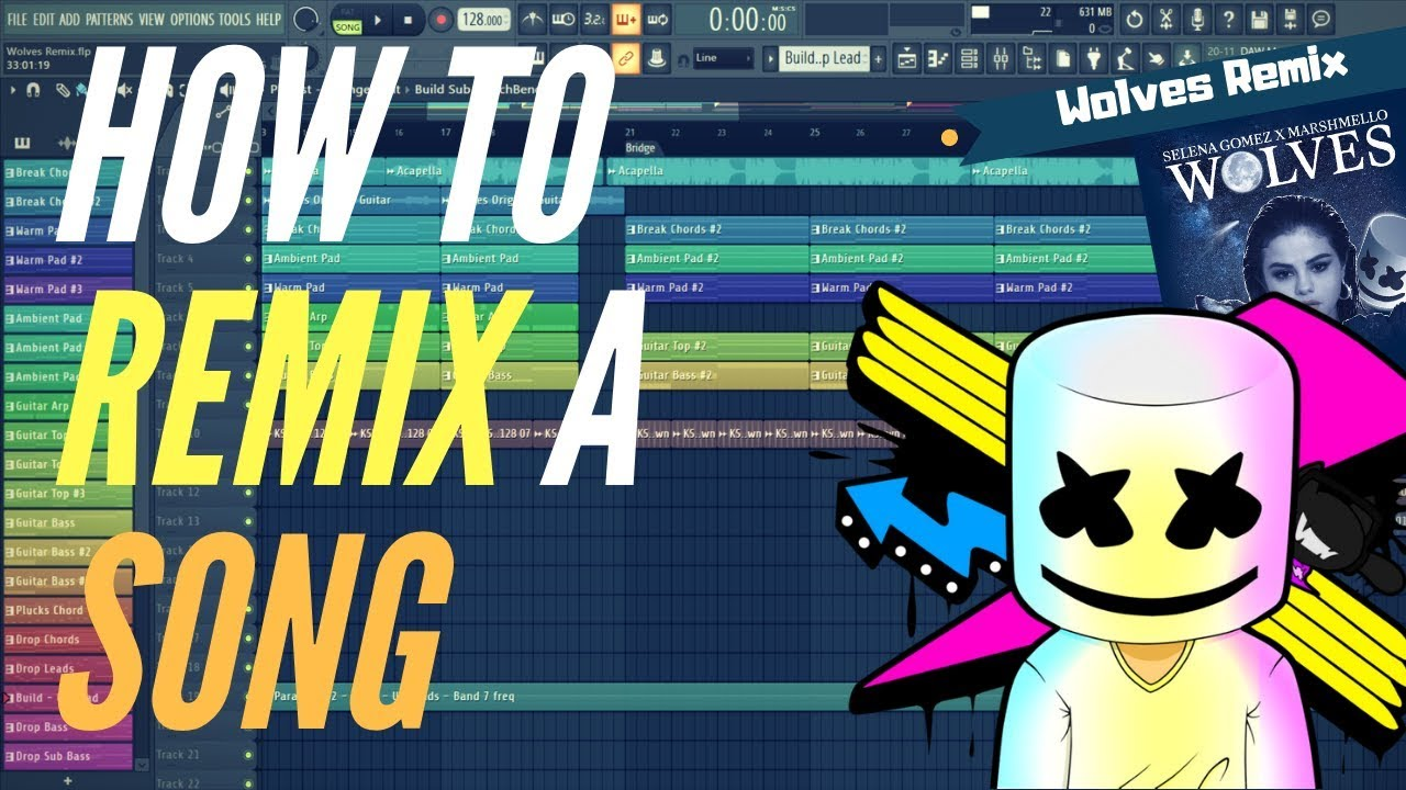 How to make a Hit Remix of any Song - Fl Studio tutorial   Free FLP