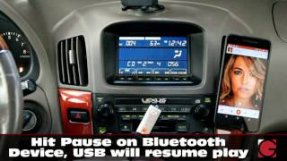 lexus rx300 1999 2003 grom usb android iphone bluetooth car kit demo