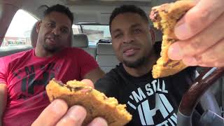 Eating Wendy's Chocolate Chunk Cookie @HODGETWINS