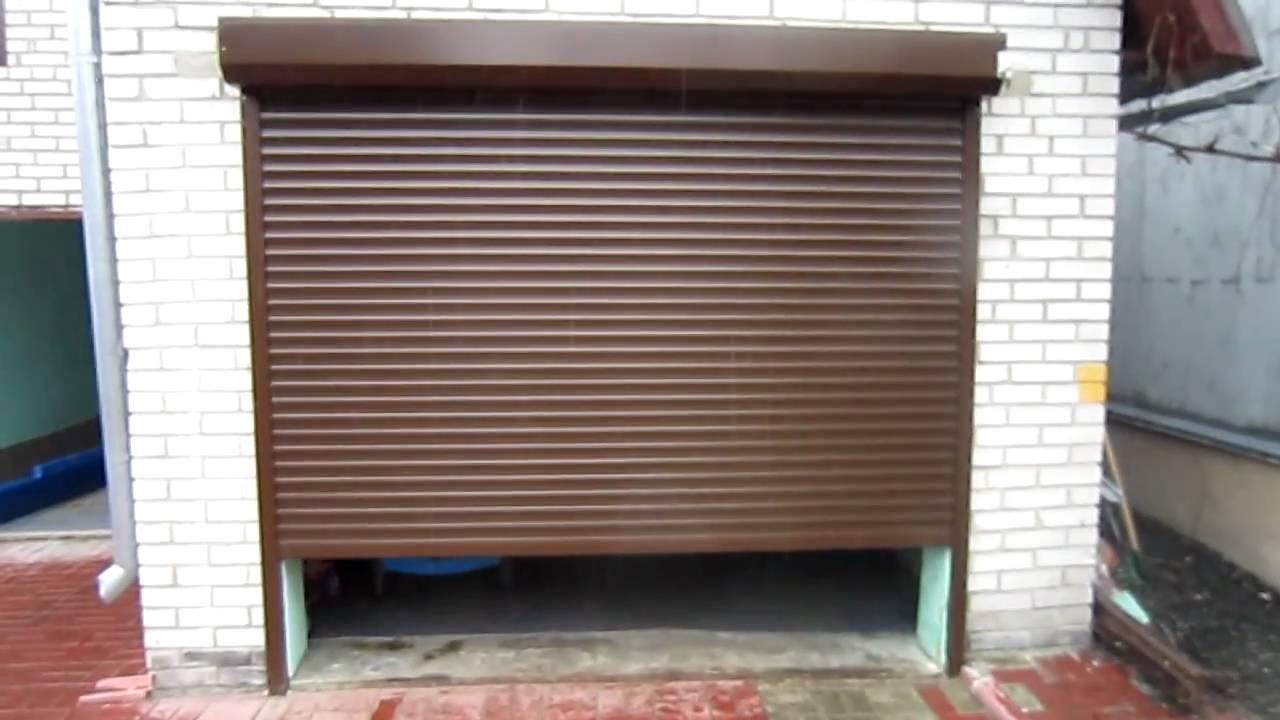 Рольставни на гараж своими руками видео