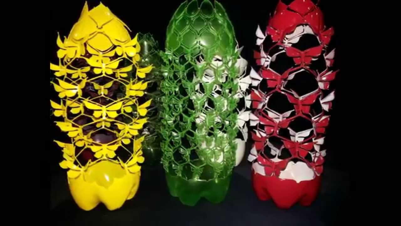 Artesanato E Reciclagem Com Garrafa Pet ~ Artesanato e Reciclagem Borboletas YouTube