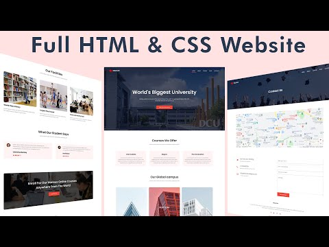 How To Make Website Using HTML & CSS | Full Responsive Multi Page Website Design Step by Step